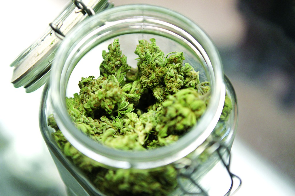 Medical marijuana is shown in a jar at The Joint Cooperative in Seattle, Washington January 27, 2012.